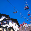 Ski lifts moving up and down — Stock Photo