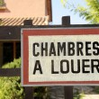 Stock Photo: Rooms for rent in France