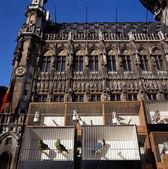 Pohled na grand place v bruselu, belgie. — Stock fotografie