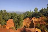 Roussillon Cliffs at Sunset — Stock Photo
