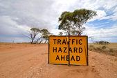 交通危险标志 — 图库照片
