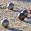 Stock Photo: Playing jeu de boules in France