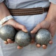 Stock Photo: Playing jeu de boules