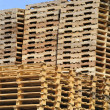 Stack of wooden pallets — Stock Photo