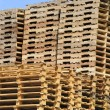 Stack of wooden pallets — Stock Photo #8441489