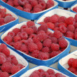 Raspberries in containers — Stock Photo #8442898
