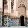 Stock Photo: Ali Ben Youssef Madrassa in Marrakech, Morocco