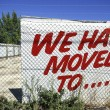 Sign we moved — Stock Photo