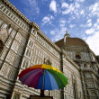 Royalty-Free Stock Photo: Umbrella in front of Duomo