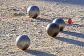 Playing jeu de boules in France — Stock Photo