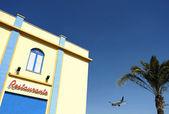 餐厅和飞机 — 图库照片