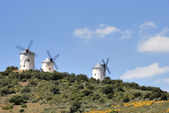Medieval windmills in Spain — Stock Photo