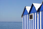 Beach booths — Stock Photo