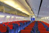 Inside an airplane — Stock Photo
