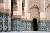 Ali Ben Youssef Madrassa in Marrakech, Morocco — Stock Photo