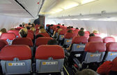 Interior of an airplane — Stock Photo