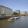 Tourist boat at the Spree — Stock Photo