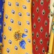 Fabrics at a market — Stock Photo