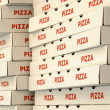 Pizza boxes — Stock Photo