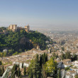 Granada and the Alhambrah — Stock Photo