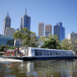 Melbourne with tourist boat — Stock Photo