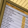 Departure board - Stock Photo