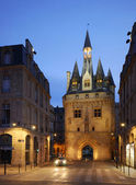 The Gosse Cloche in Bordeaux ,France, by night — Stock Photo