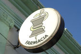 Farmacia sign in Spain — Stock Photo