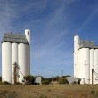 Stock Photo: Grain silo facility