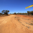 Road through the outback — Stock Photo