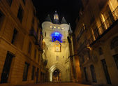 The Gosse Cloche in Bordeaux by night — Stock Photo
