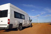 Mobil home on its way — Stock Photo