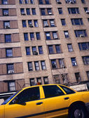 Yellow taxi in New York — Stock Photo