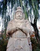 """Guard at """"Way of Souls"""" Ming Tombs, Beijing, China — Stock Photo"""