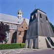 Martini church with separate belfry in Sneek — Stock Photo