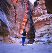 The Siq, Petra, Jordan — Stock Photo