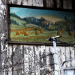 Stock Photo: Old house wall with painting
