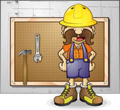 Construction Worker — Stock Vector
