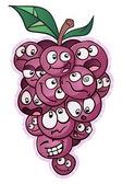 Grape Bunch Characters — Stock Vector