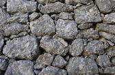Strong limestone wall built during WWI — Stock Photo