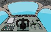 Retro Cockpit — Stock Photo