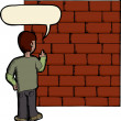 Talking To A Brick Wall — Stock Photo