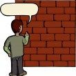 Stock Photo: Talking To Brick Wall
