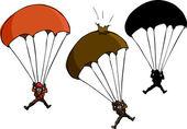 降落伞跳线 — 图库照片