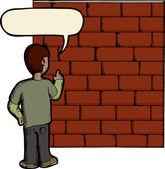 Talking To A Brick Wall — Stock Photo