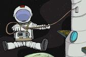 太空行走 — 图库照片