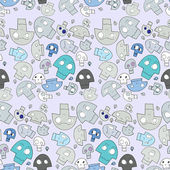 Seamless Skull Pattern — Stock Photo