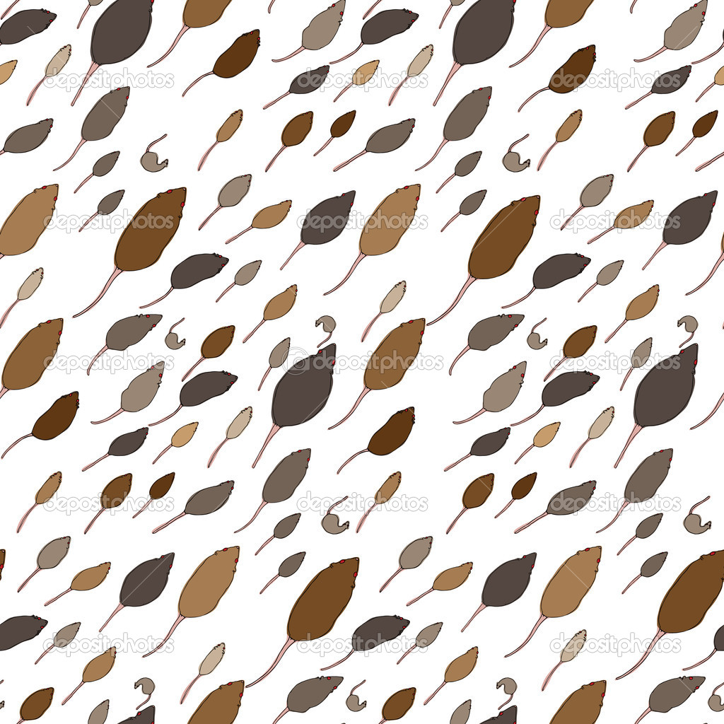 Seamless pattern of various red-eyed rat cartoons for wallpaper and backgrounds. EPS contains swatch. — Stock Photo #8350504