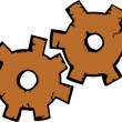 Rusty Gears — Stock Photo #8402885