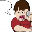 Loud Mouth Man on Phone — Stock Photo